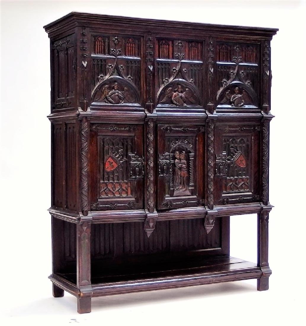 Italian Renaissance Revival Carved Wood Cabinet