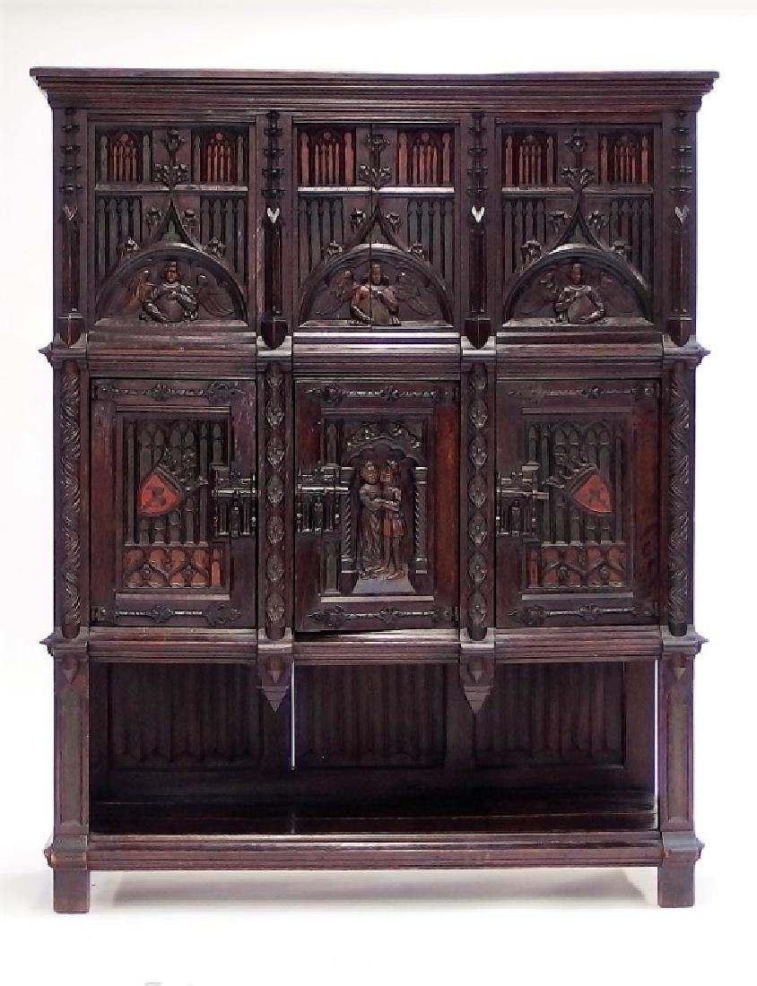 Italian Renaissance Revival Carved Wood Cabinet - 2