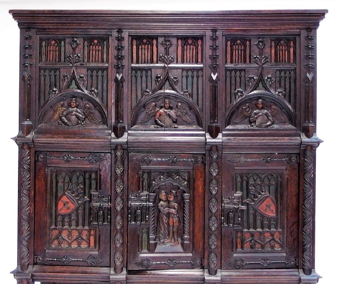 Italian Renaissance Revival Carved Wood Cabinet - 3