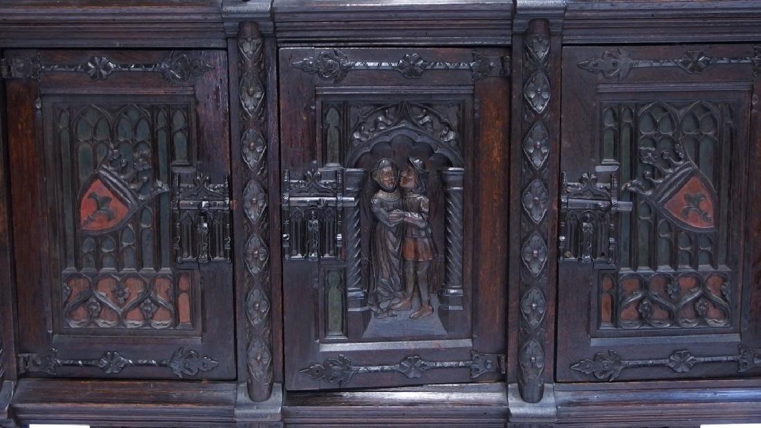 Italian Renaissance Revival Carved Wood Cabinet - 5