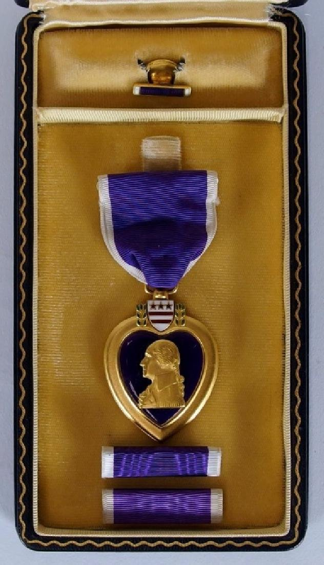WWII Cased Named Purple Heart Army Sgt Carlo Asti