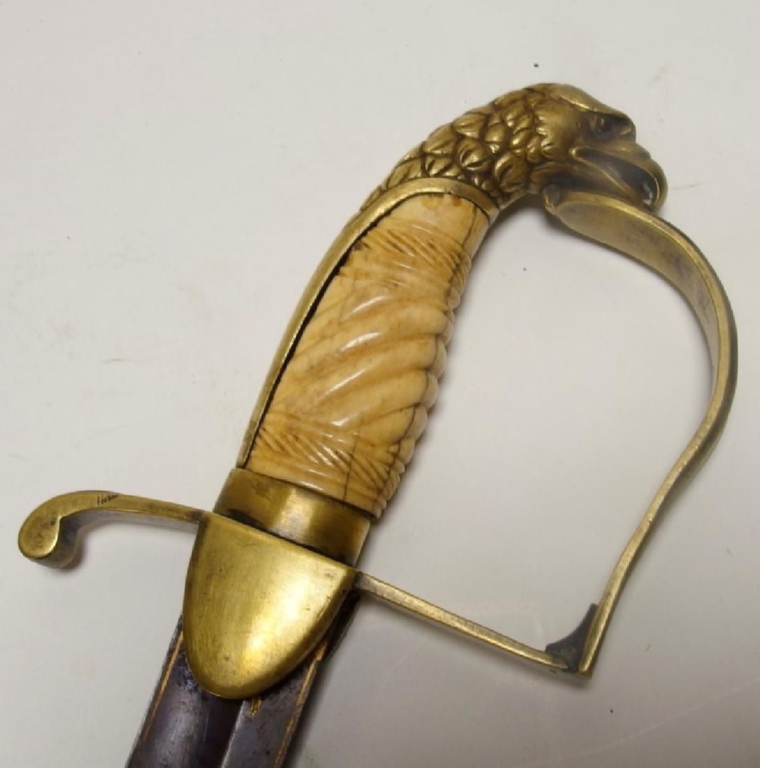 C. 1825 U.S Eagle Head Pommel Blued Sword - 5