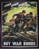 1942 Ferdinand Warren WWII War Bond Poster