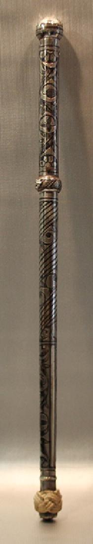 Persian 19C Niello Silver Caucasian Kindjal Dagger
