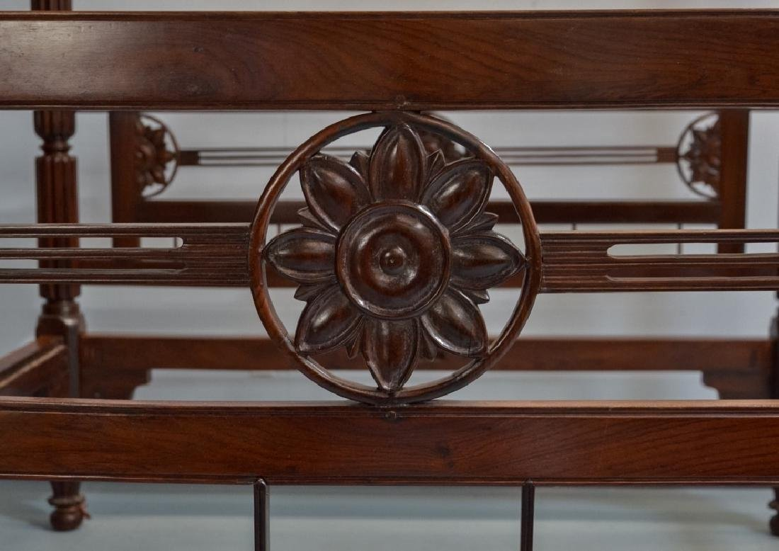 Rare 19C. Indian Rosewood King Size Canopy Bed - 2