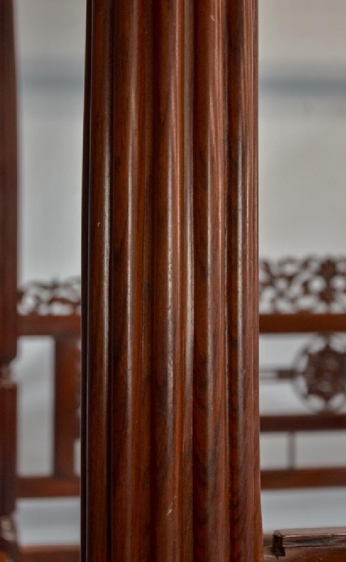 Rare 19C. Indian Rosewood King Size Canopy Bed - 3