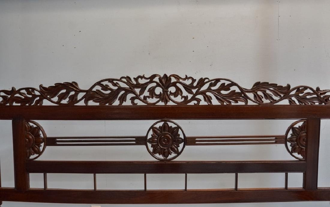 Rare 19C. Indian Rosewood King Size Canopy Bed - 5