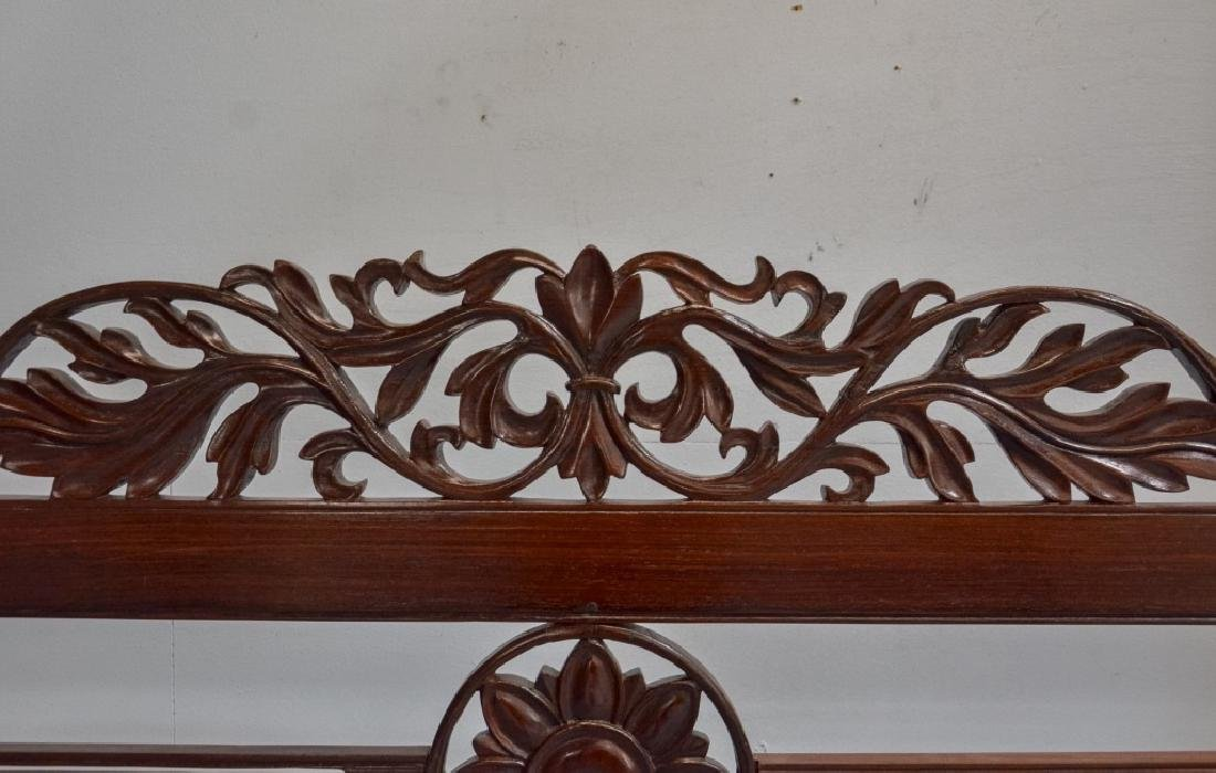 Rare 19C. Indian Rosewood King Size Canopy Bed - 6