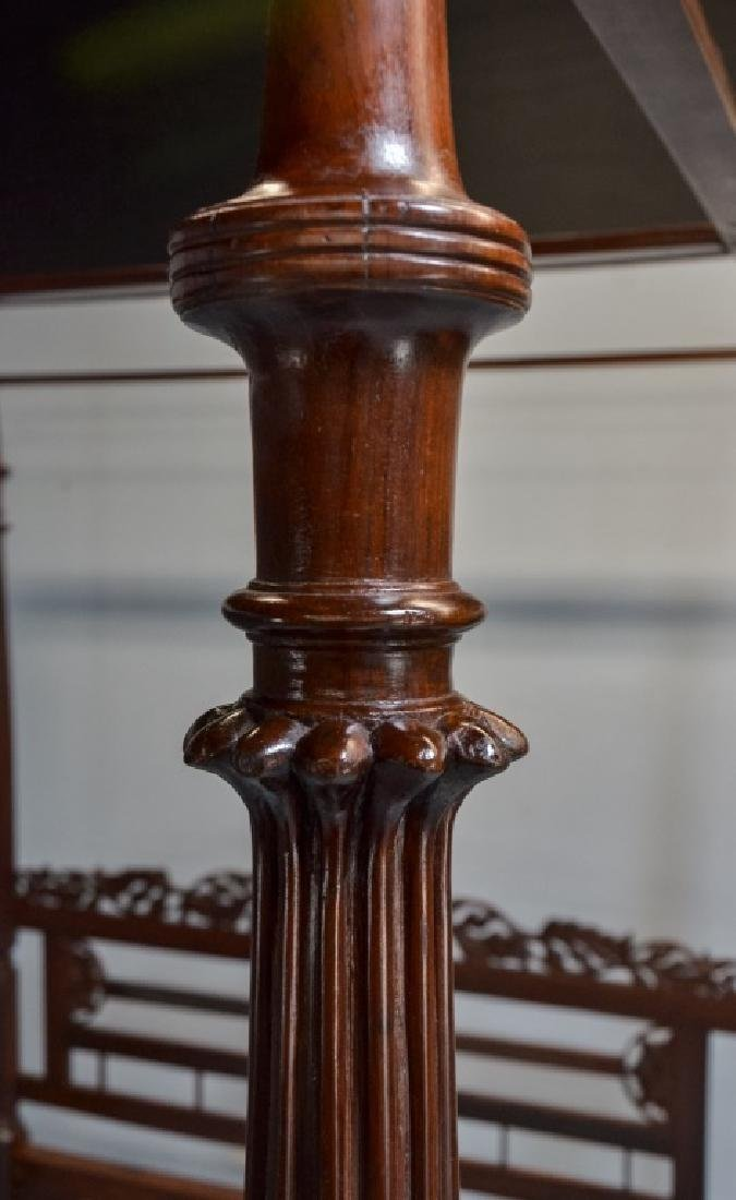 Rare 19C. Indian Rosewood King Size Canopy Bed - 7