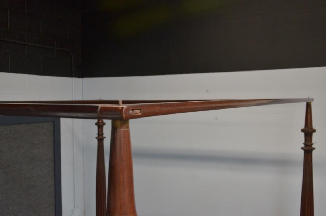 Rare 19C. Indian Rosewood King Size Canopy Bed - 9
