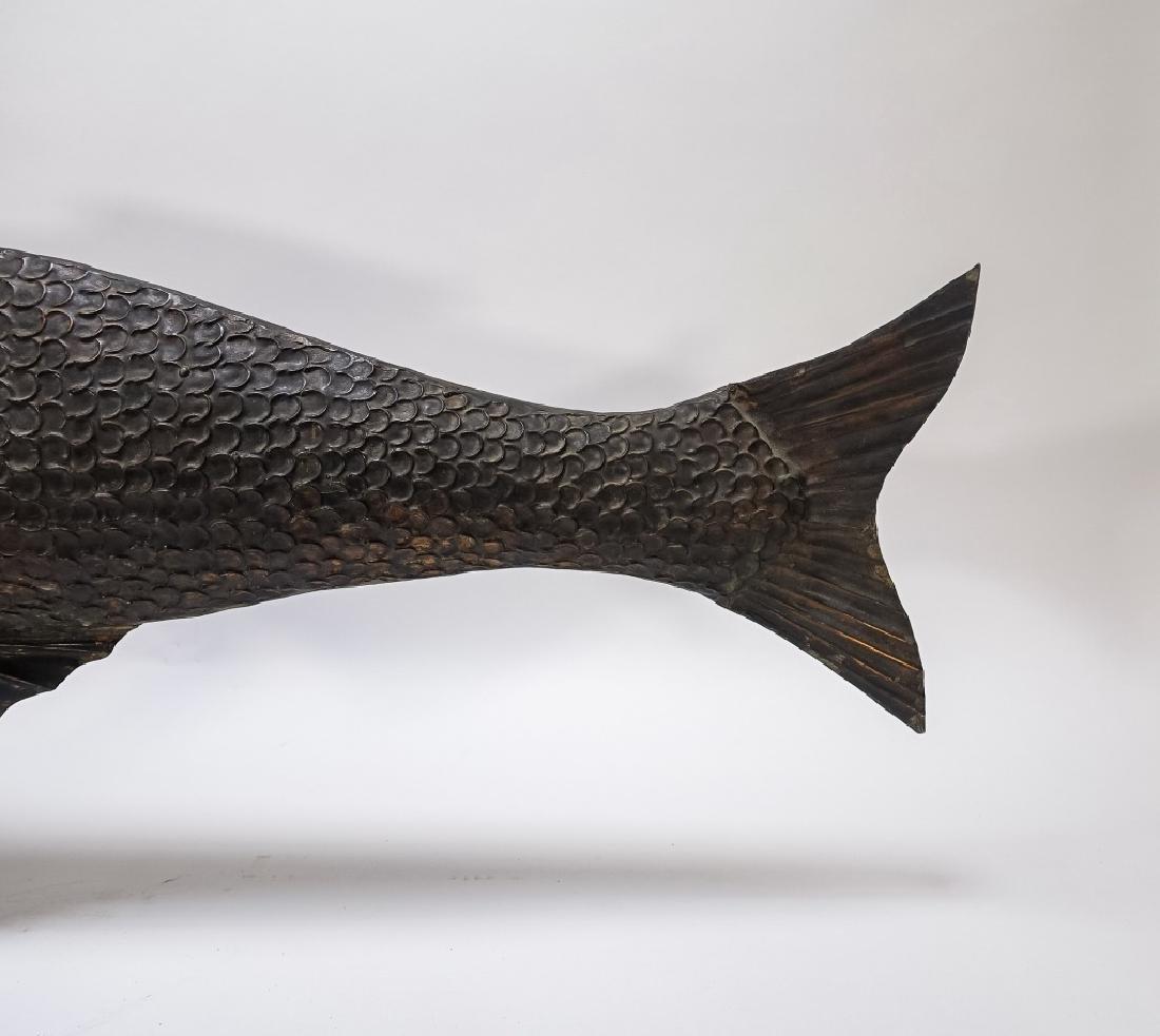 Vintage American Full Body Copper Fish Weathervane - 10