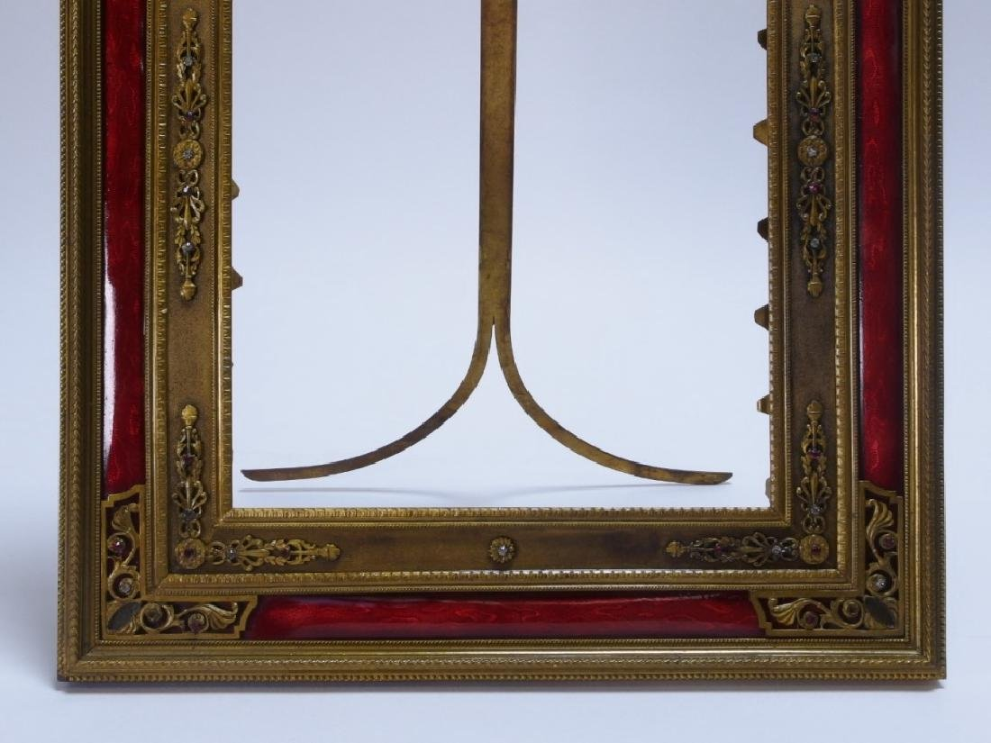2 French Gilt Bronze Jeweled Picture Frames - 4