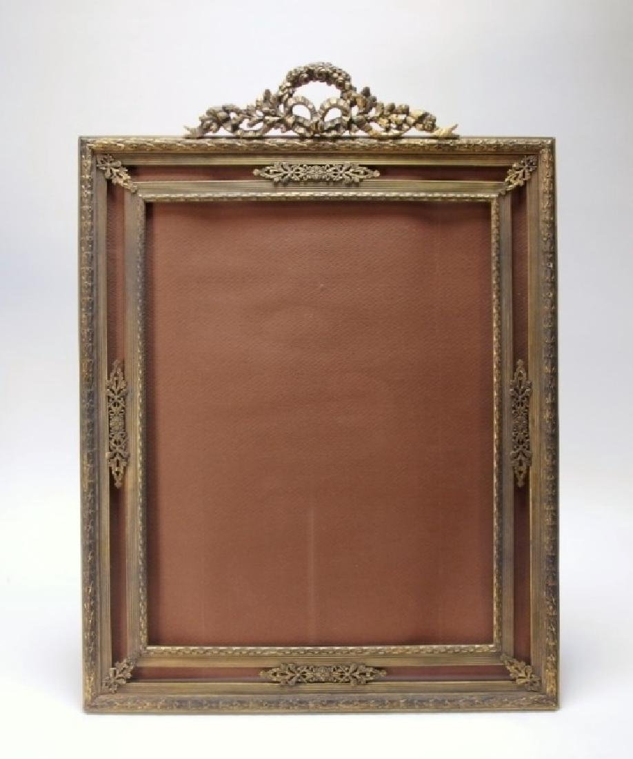2 French Gilt Bronze Jeweled Picture Frames - 5