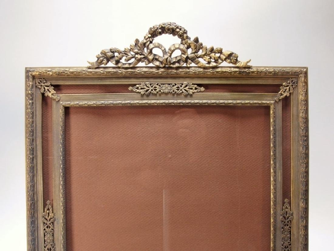 2 French Gilt Bronze Jeweled Picture Frames - 6