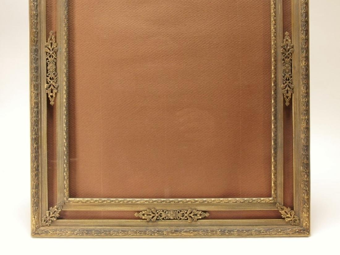 2 French Gilt Bronze Jeweled Picture Frames - 7