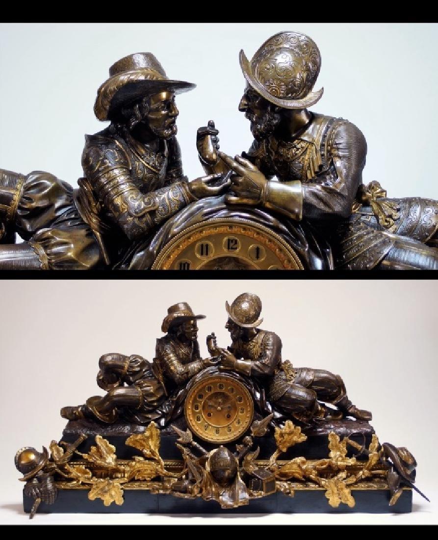 Attrib. Edmund Leveque French Bronze Garniture Set - 2