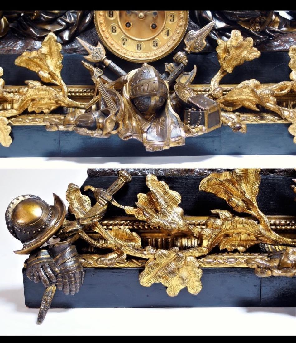 Attrib. Edmund Leveque French Bronze Garniture Set - 4