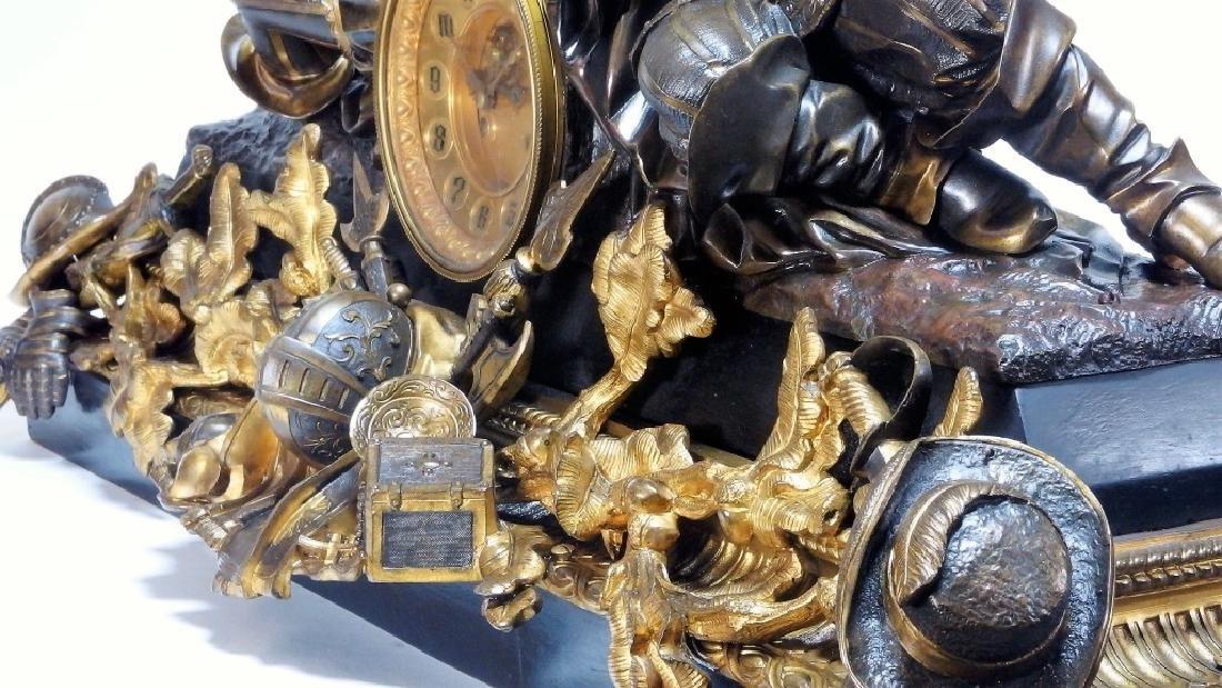 Attrib. Edmund Leveque French Bronze Garniture Set - 5