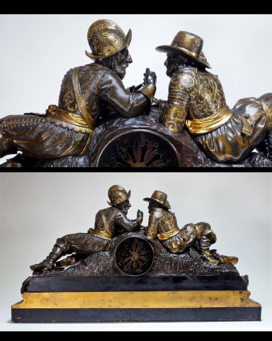 Attrib. Edmund Leveque French Bronze Garniture Set - 6