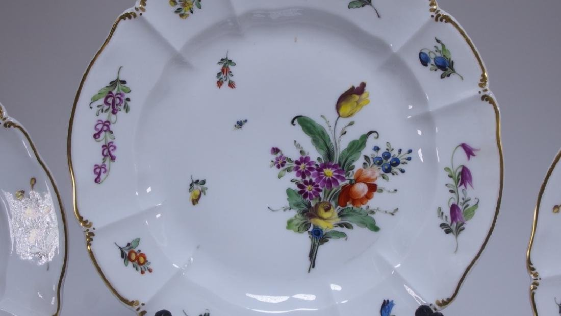 10 German Nymphenburg Cumberland Rococo Plates - 2