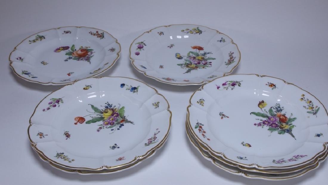 10 German Nymphenburg Cumberland Rococo Plates - 3