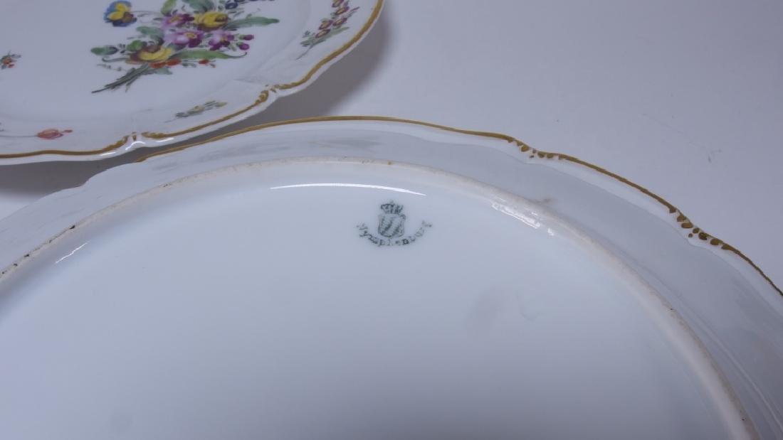 10 German Nymphenburg Cumberland Rococo Plates - 4