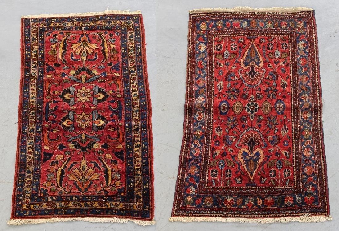2 Oriental Persian Sarouk Style Carpet Rugs