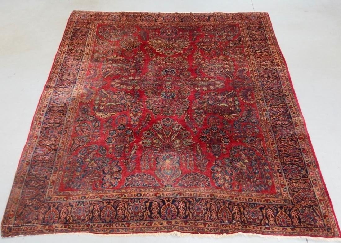 Persian Sarouk Room Size Carpet Rug