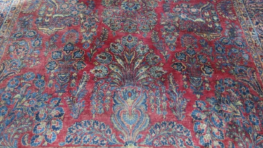Persian Sarouk Room Size Carpet Rug - 2