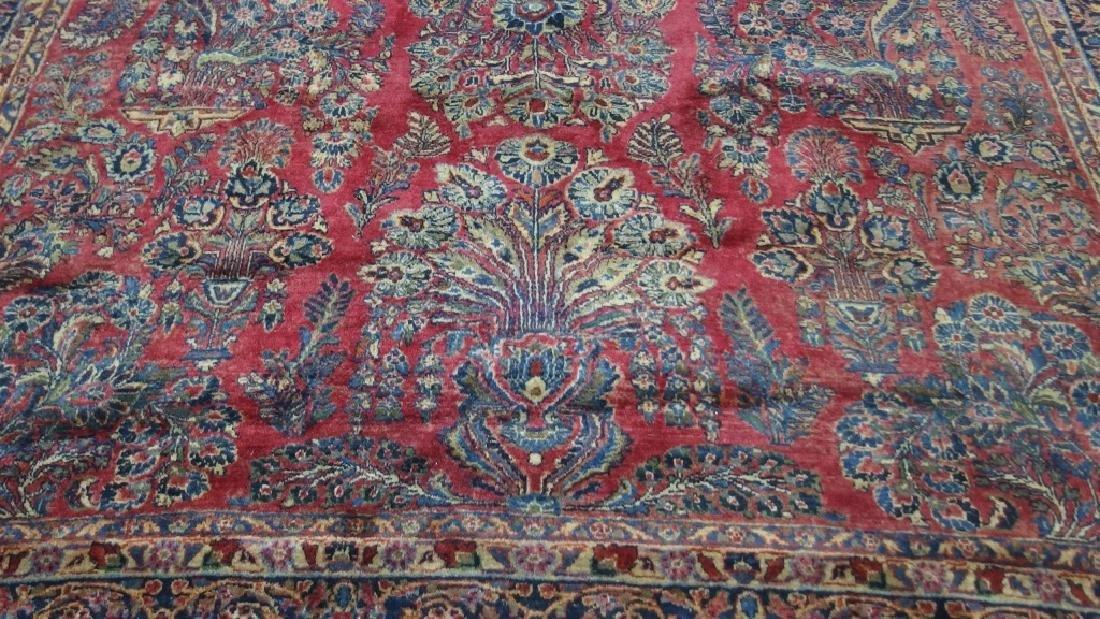 Persian Sarouk Room Size Carpet Rug - 4