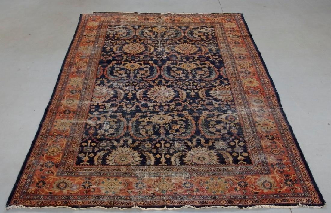 Persian Circa 1900 Mahal Zeiglar Type Carpet Rug