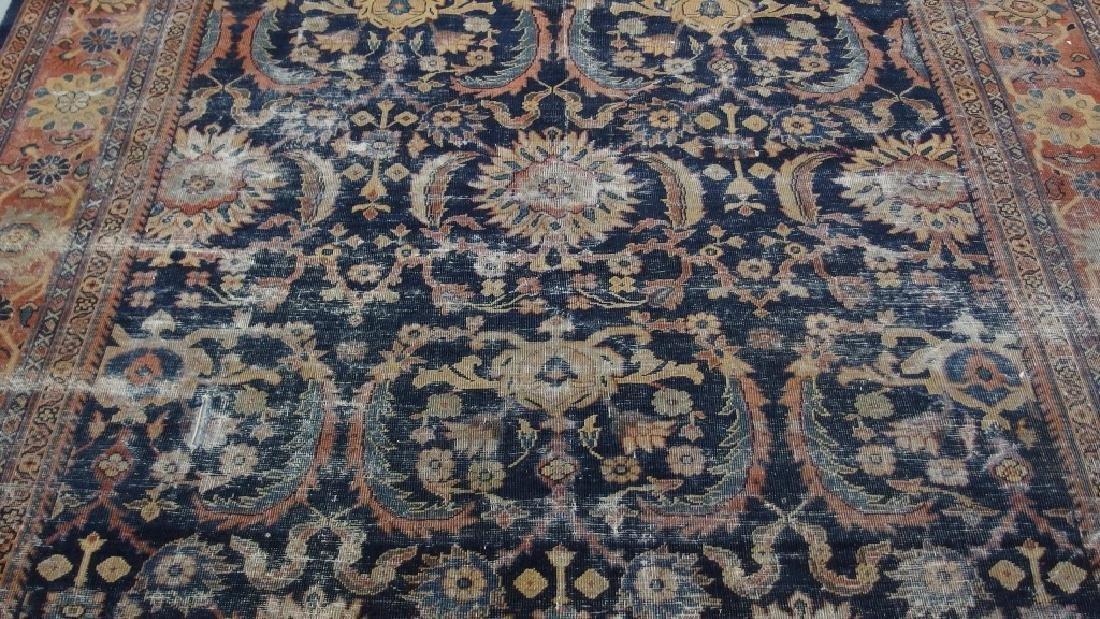 Persian Circa 1900 Mahal Zeiglar Type Carpet Rug - 2