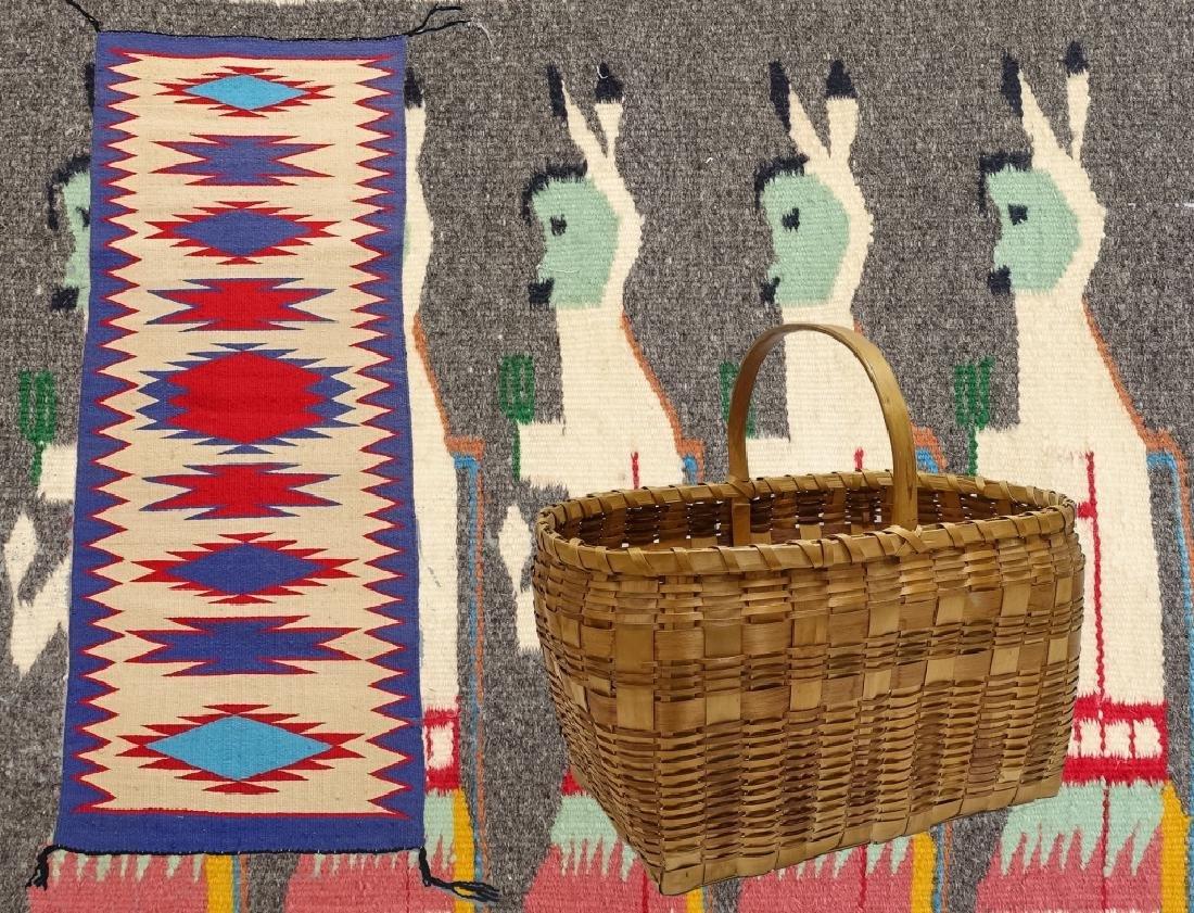 Native American Indian Basket & Yei Rug Group