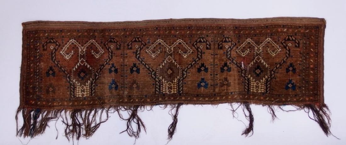 Persian Turkestan Soumak Mafrash Rug Textile