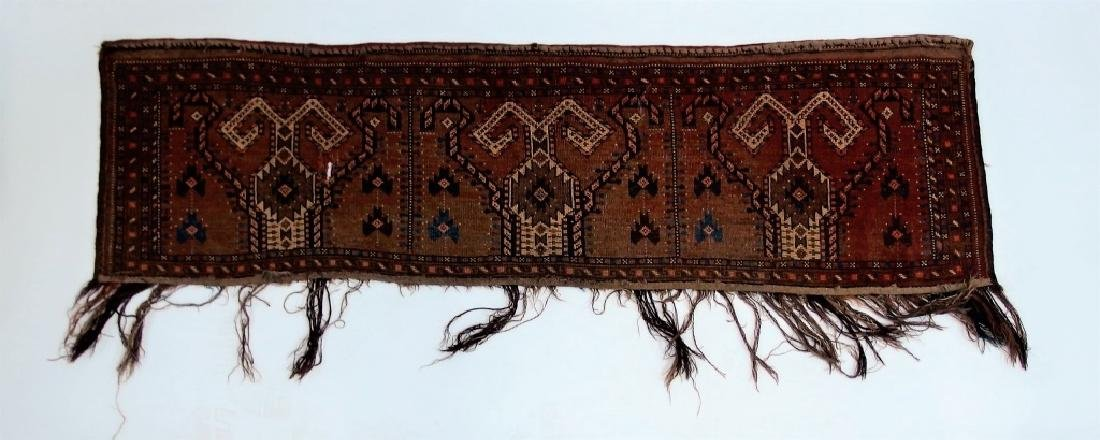 Persian Turkestan Soumak Mafrash Rug Textile - 7