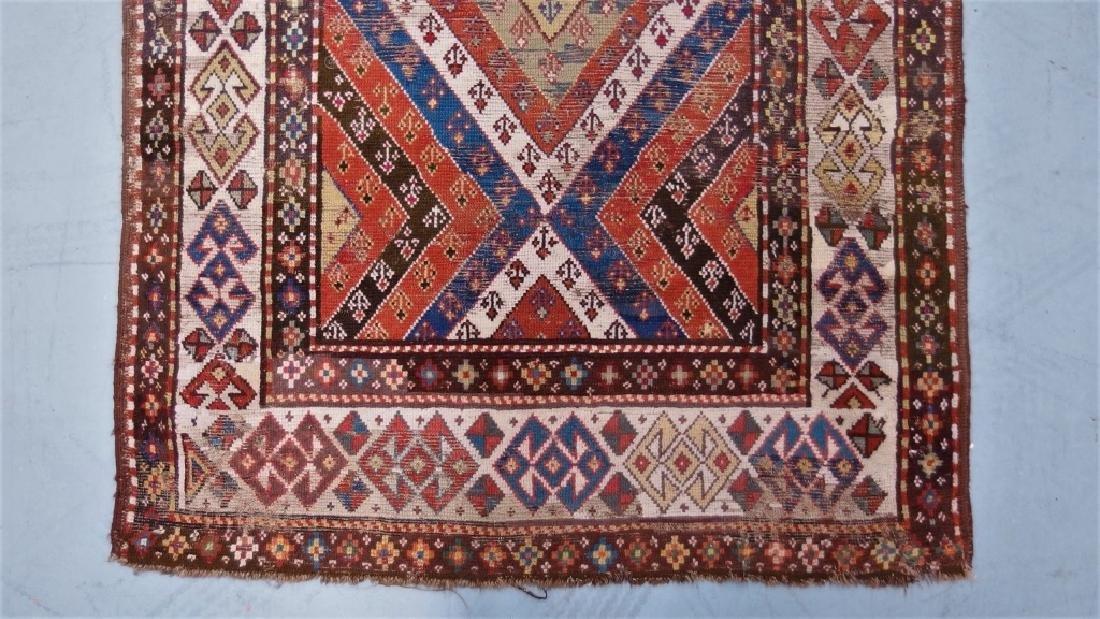 Antique Persian Caucasian Kazak Carpet Rug - 2