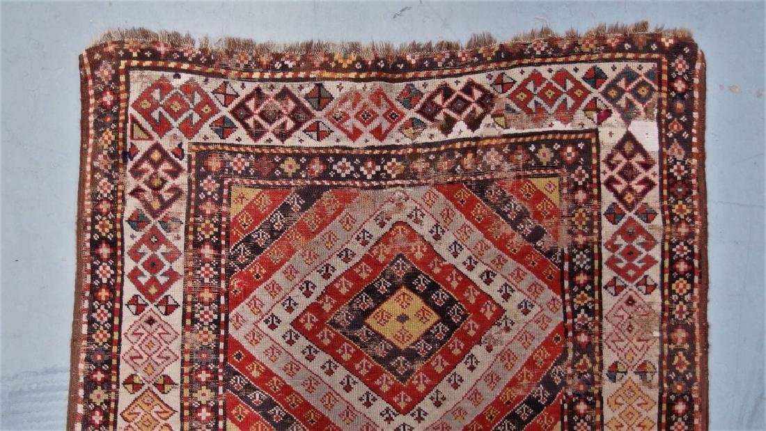 Antique Persian Caucasian Kazak Carpet Rug - 4