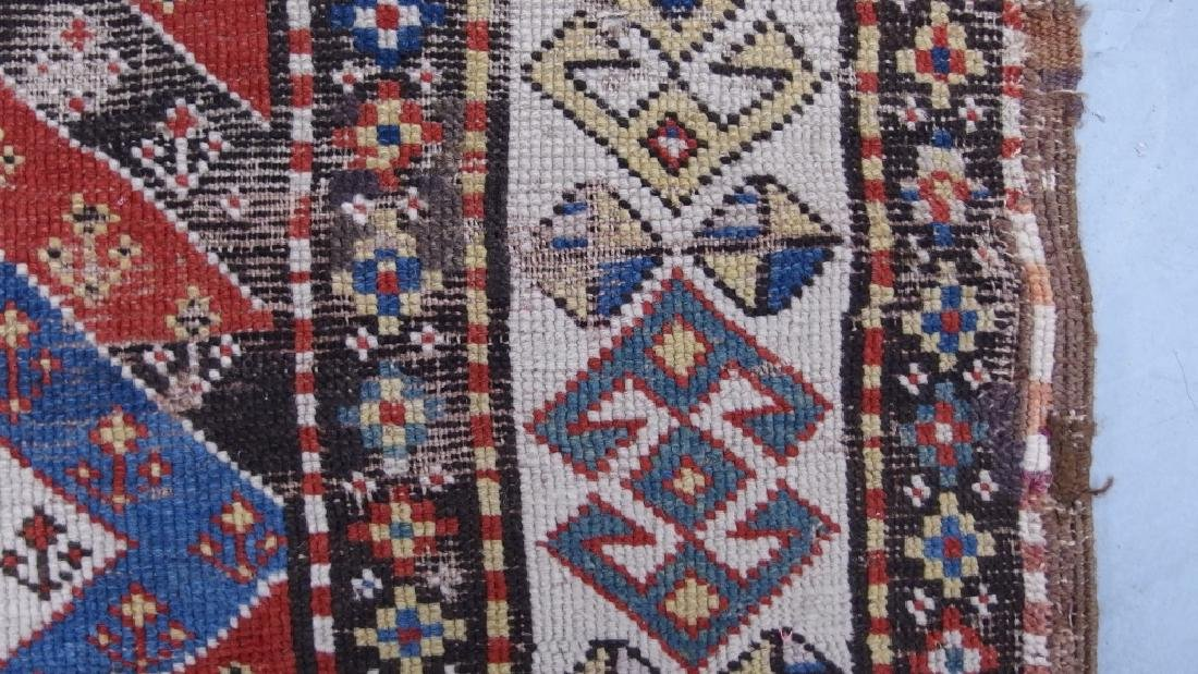 Antique Persian Caucasian Kazak Carpet Rug - 6