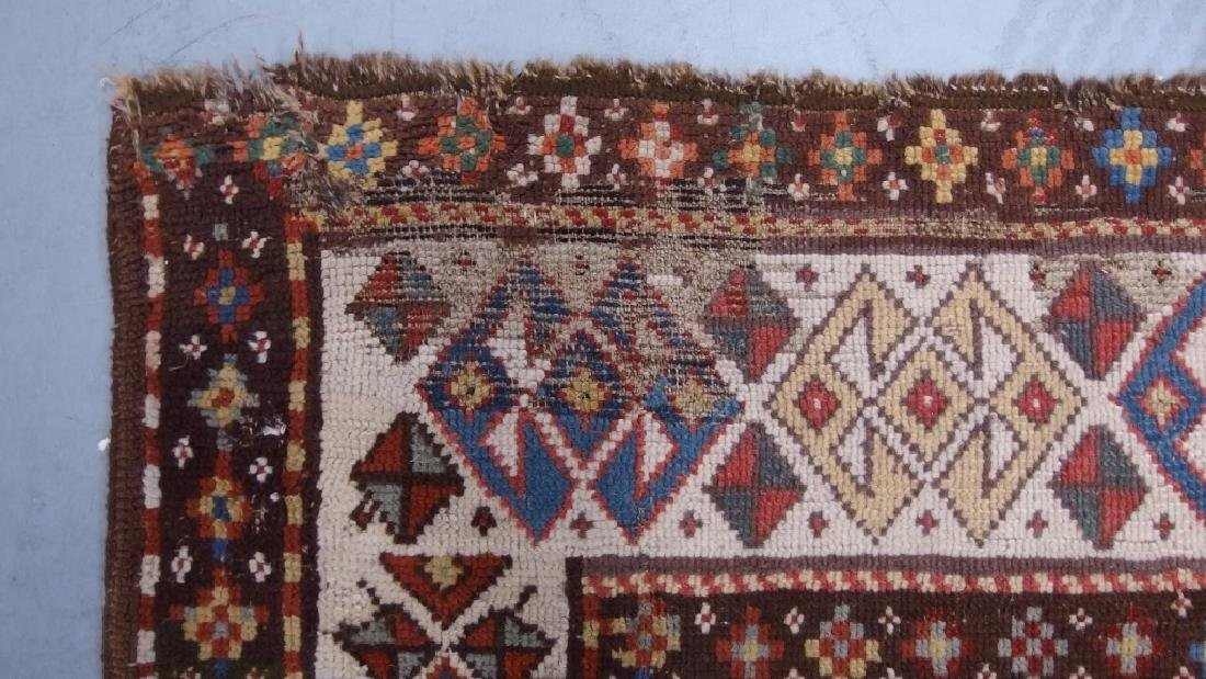 Antique Persian Caucasian Kazak Carpet Rug - 7