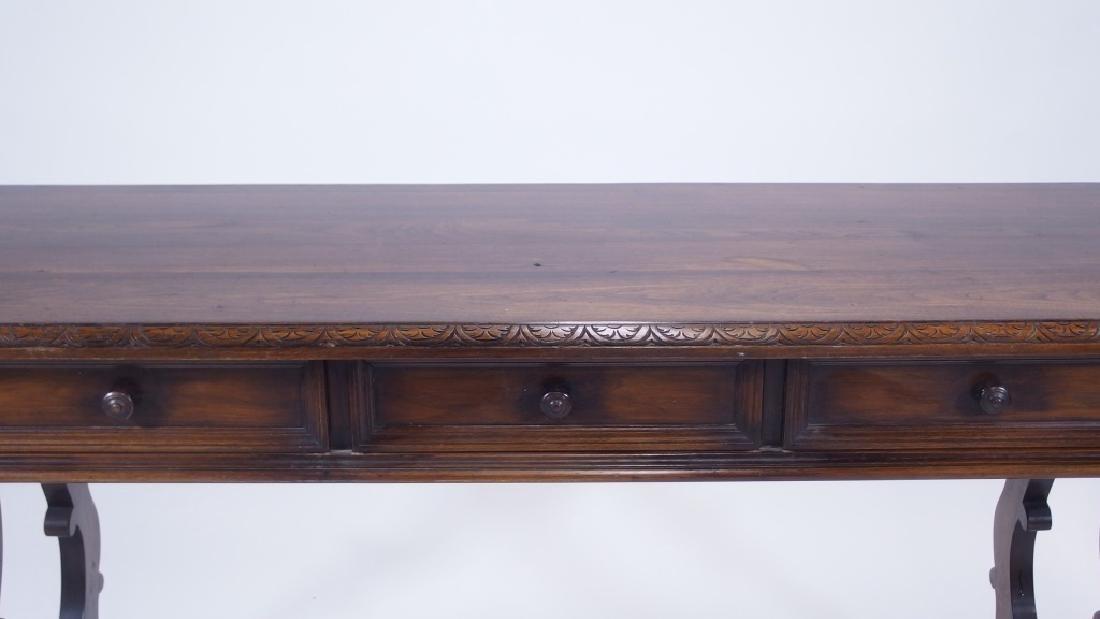 Jacobean Style Walnut Desk Console Table - 3