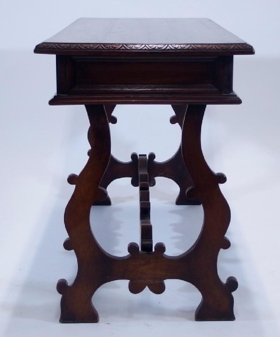 Jacobean Style Walnut Desk Console Table - 6