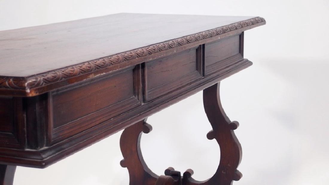 Jacobean Style Walnut Desk Console Table - 7