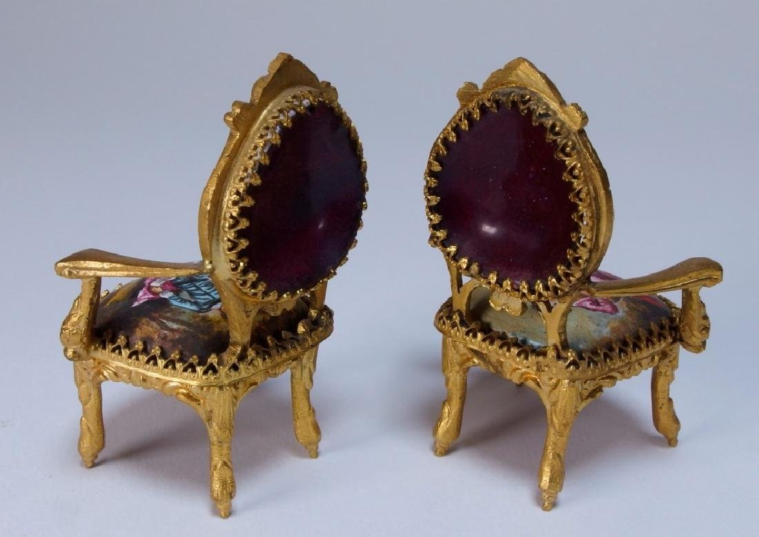 Vienna Bronze Enamel Miniature Furniture Group - 8
