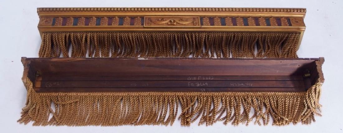 PR Art Deco Carved Wood Polychrome Window Valances - 5