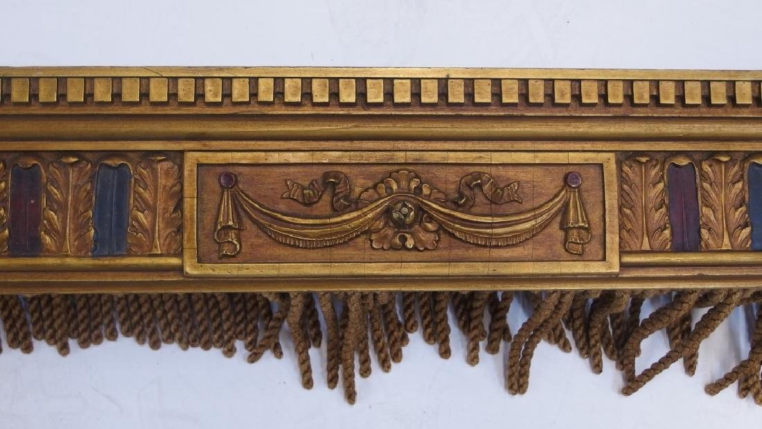 PR Art Deco Carved Wood Polychrome Window Valances - 2