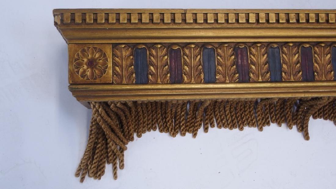 PR Art Deco Carved Wood Polychrome Window Valances - 3