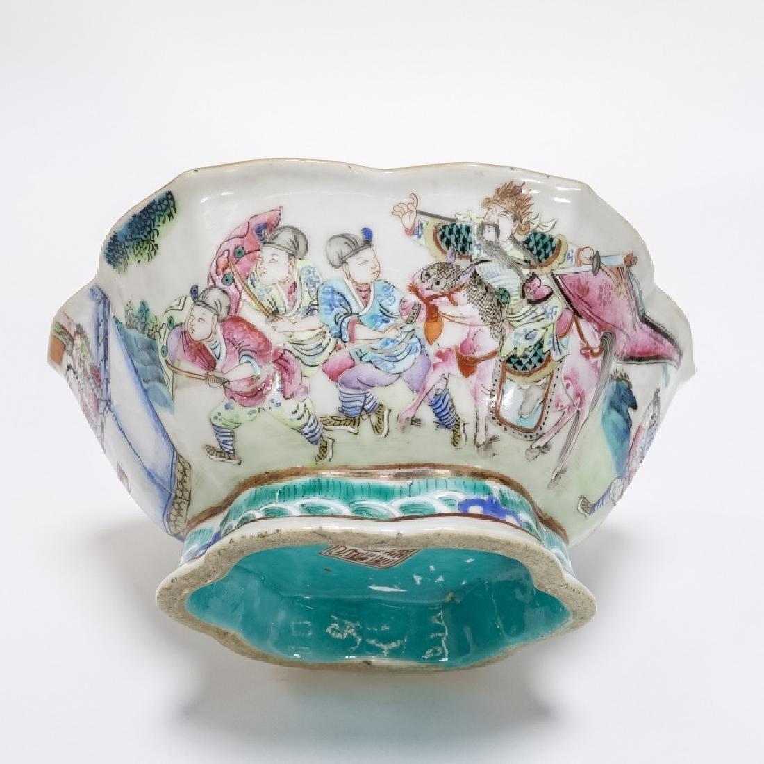 2 Chinese Porcelain Famille Rose Signed Bowls - 4