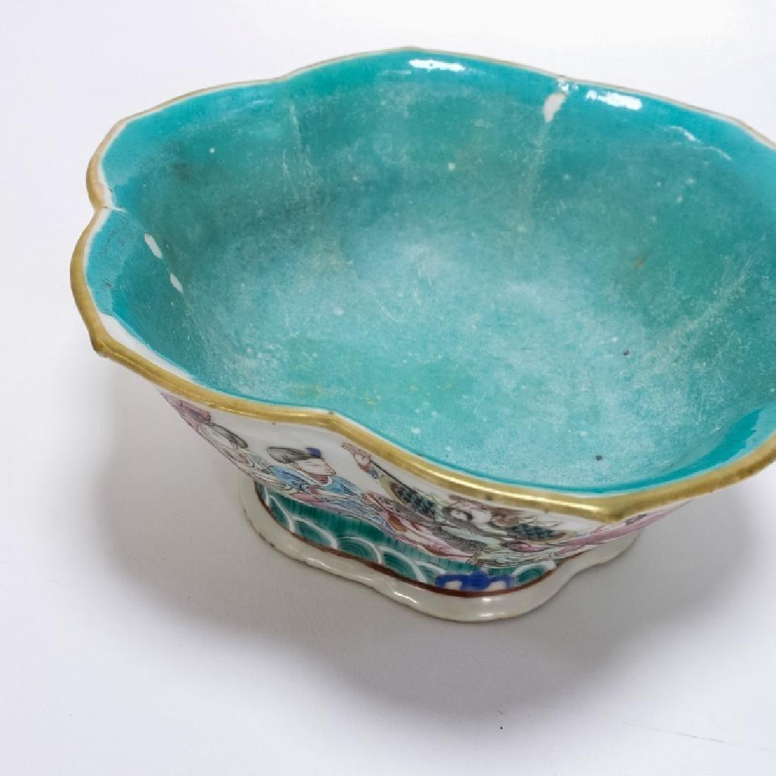 2 Chinese Porcelain Famille Rose Signed Bowls - 7