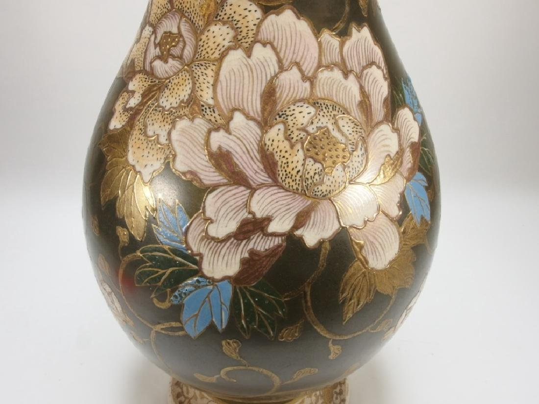 LG Japanese Satsuma Porcelain Vase - 4