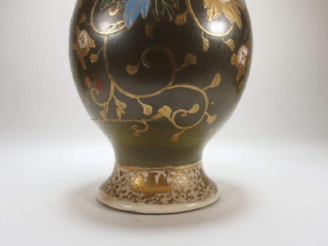 LG Japanese Satsuma Porcelain Vase - 5